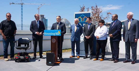 <span>HOUSING FIRST – SAN DIEGO: 2018-2020</span><br>The next phase of SDHC's Homelessness Action Plan will create permanent housing opportunities for at least 3,000 homeless individuals and families in the City of San Diego. Read the News Release 7.5.17