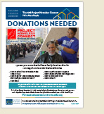 Project Homeless Connect Donations Flyer