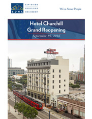 Hotel Churchill Grand Reopening Booklet