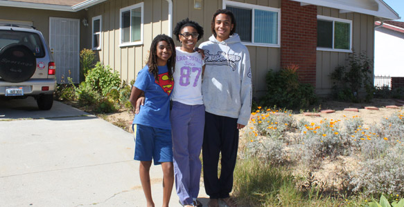 <span>A Transformed Home</span><br>A home rehabilitation loan helped Kym and her family remove mold, replace carpet, install drought-resistant landscaping and make other improvements at their house in the southeastern part of San Diego.