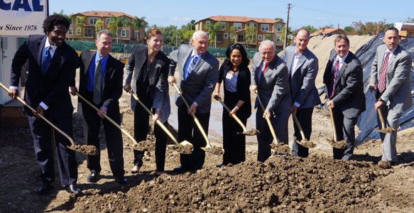 "<span>Affordable Housing for Families</span><br>Villa Encantada, an SDHC Partnership development under construction in Encanto, will provide 66 affordable rental apartments for families near mass transit, fostering a ""village"" atmosphere and encouraging neighborhood growth. Read the News Release 2.23.17"