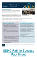 SDHC Path to Sucess Fact Sheet PNG