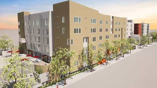 Mid-City Apartments Rendering